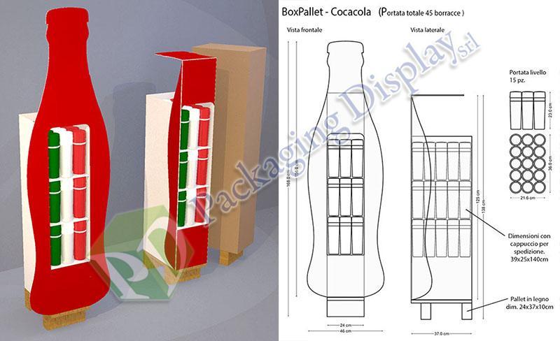 D3D002 - Boxpallet Cocacola