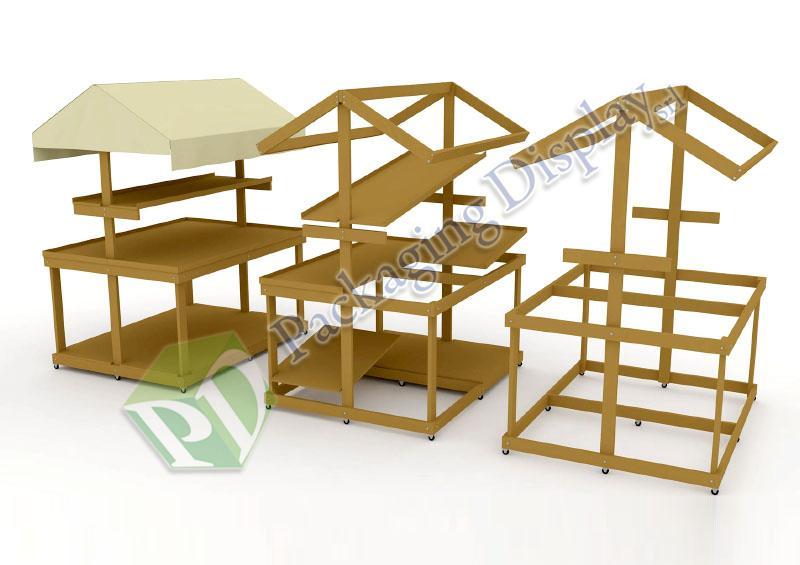 D3D 203 - Bancarella in legno.